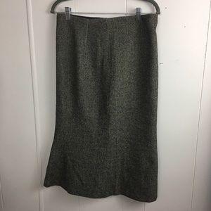 Lauren Ralph Lauren wool blend midi skirt.